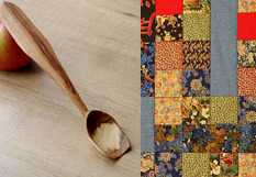 Lady Oak Woods spoons and quilts